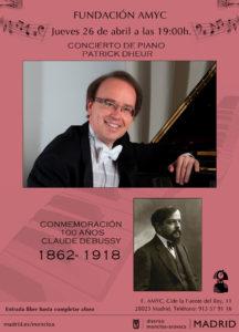Concierto de piano conmemoración 100 años