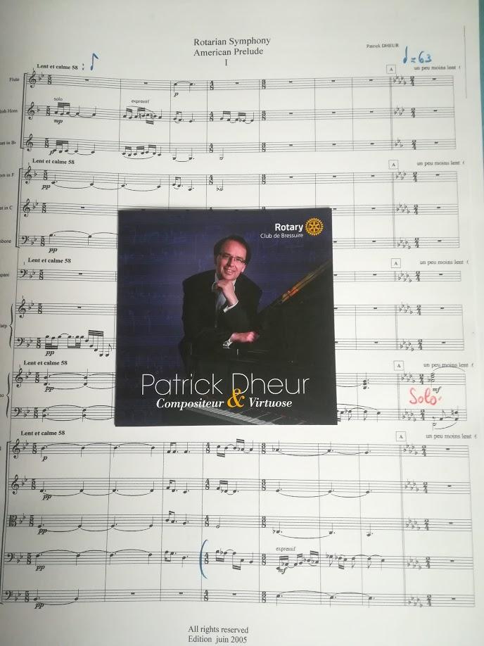 """Un nouveau CD vient de sortir avec la réédition de la """"Rotarian symphony"""" pour piano et orchestre remasterisée pour le 50ème anniversaire du #Rotary Club de Bressuire. Une édition spéciale avec en première 3 Préludes (2017) ,et en """"bis"""" Liszt (Etude transcendante 10) Chopin (Nocturne).  Un CD qui me remplit de joie et de souvenirs parfaitement dans l'esprit de ma nouvelle saison 2018  A new CD has just been released with the reissue of the """"Rotarian Symphony"""" for piano and orchestra remastered for the 50th anniversary of the Rotary Club of Bressuire. A special edition with premiere 3 Preludes (2017), and """"encore"""" Liszt (Transcendental Study 10) Chopin (Nocturne)."""